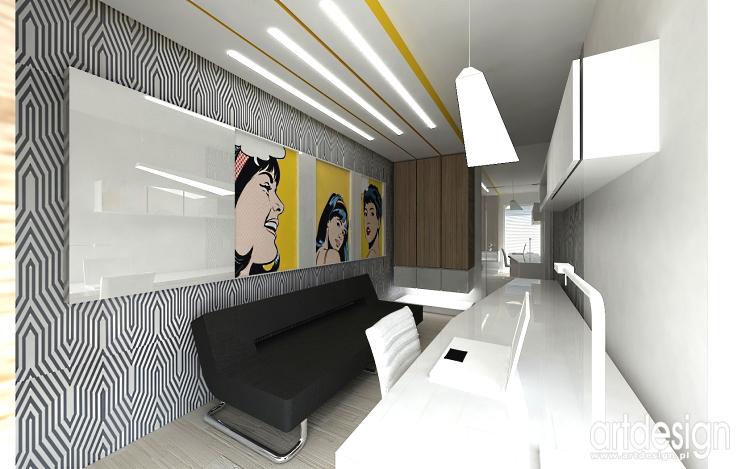 domowy gabinet - projektowanie wnętrza domu