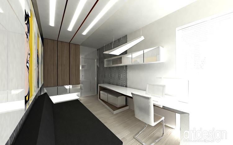 gabinet w domu - nowoczesna aranżacja wnętrza