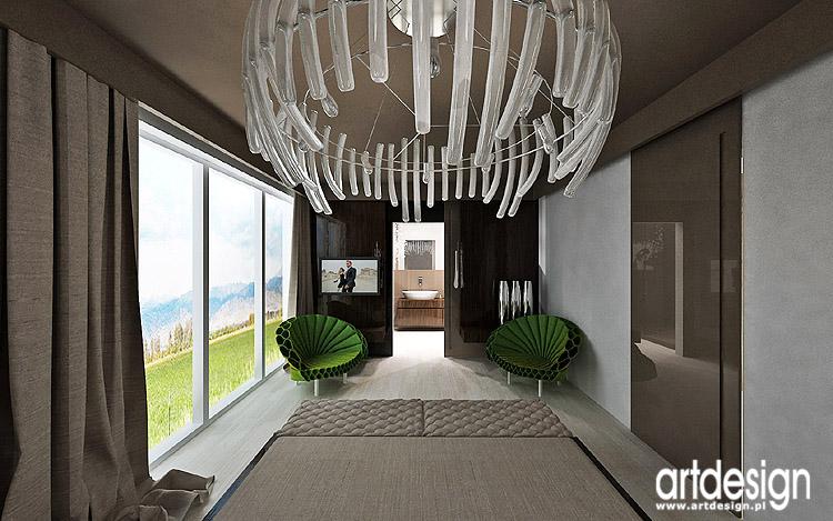 luksusowe wnętrze sypialni z łazienką