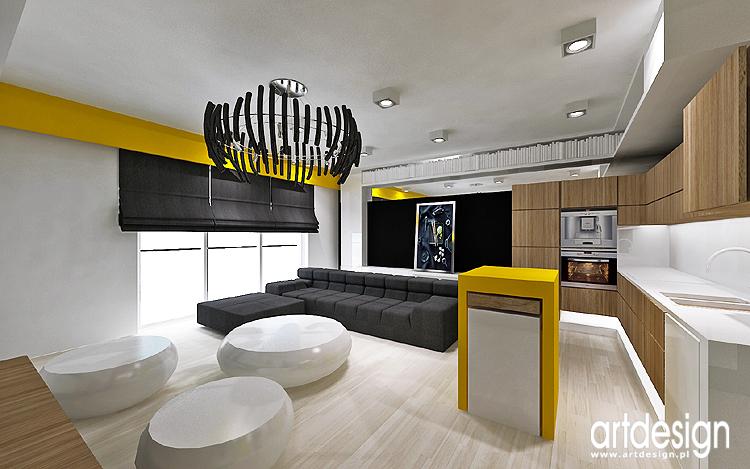 designerskie wnętrze salonu z mieszkaniu