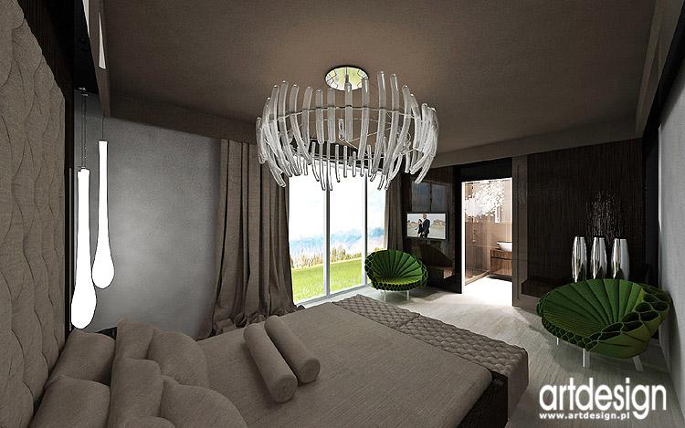 projekt wnętrza nowoczesnej sypialni