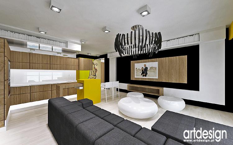 aneks kuchenny w mieszkaniu- nowoczesny projekt wnętrz