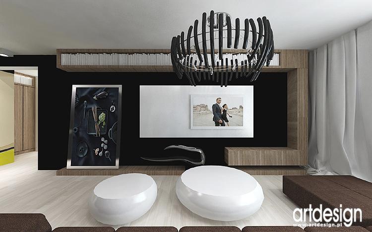 projekty wnętrz nowoczesnego salonu