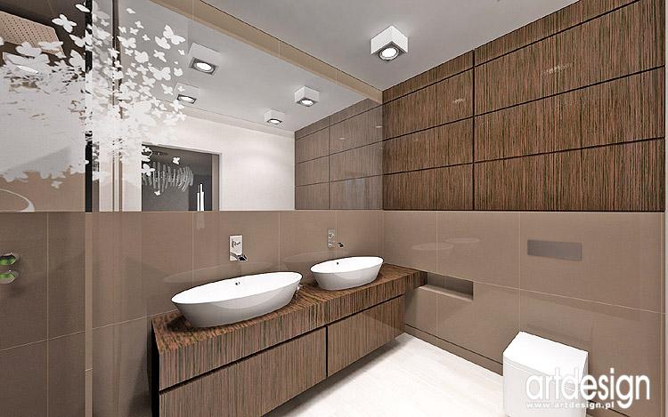 drewno w łazience - nowoczesne projekty wnętrza
