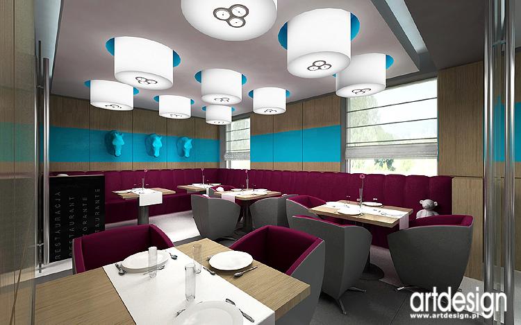 wnętrze nowoczesnej restauracji