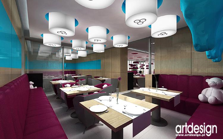 luksusowe wnętrza hotelowe - restauracja