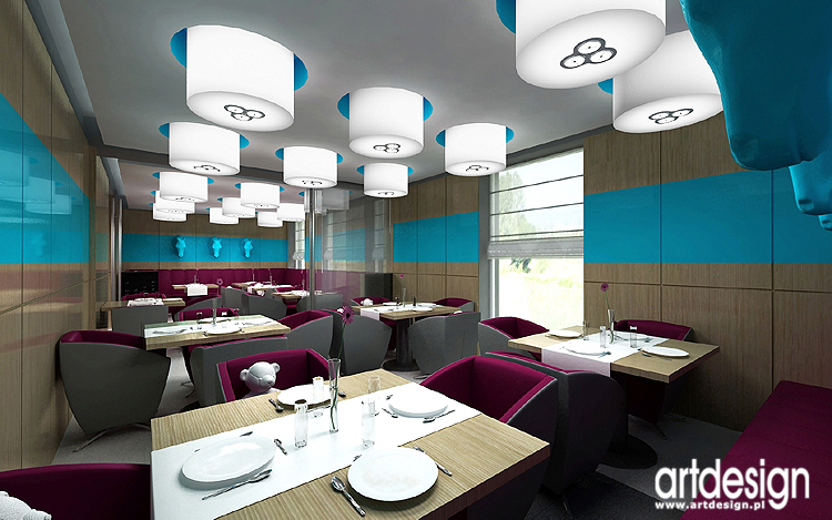 projekty wnętrz luksusowej restauracji