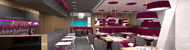 luksusowa aranżacja wnętrza restauracji