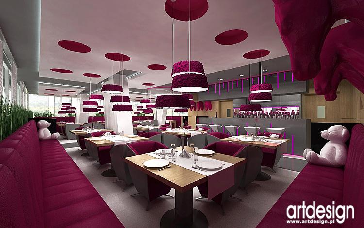 designerski projekt wnętrz restauracji