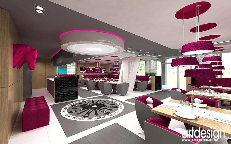 designerska aranżacja wnętrza restauracji