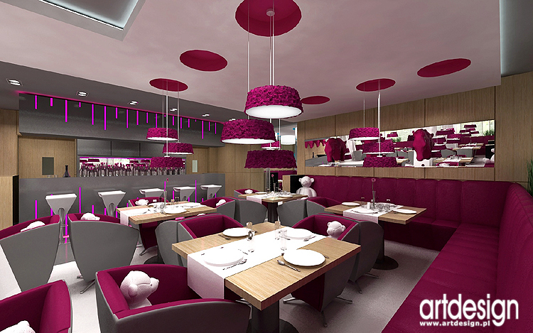 designerski projekt wnętrza hotelowej restauracji