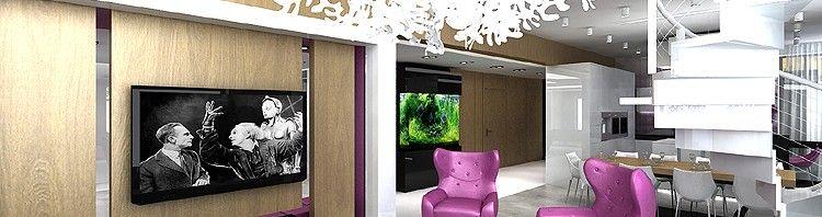 projekty wnętrza nowoczesnego domu - salon