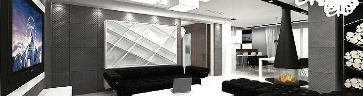 luksusowe wnętrze domu - salon