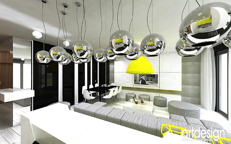 Apartament Katowice Projekt Wnetrz Salon Kuchnia Sypialnia I