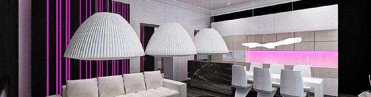 luksusowe wnętrze apartamentu - projekt architektury wnętrz