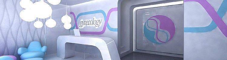 projekt wnętrza nowoczesnej kliniki ginekologicznej