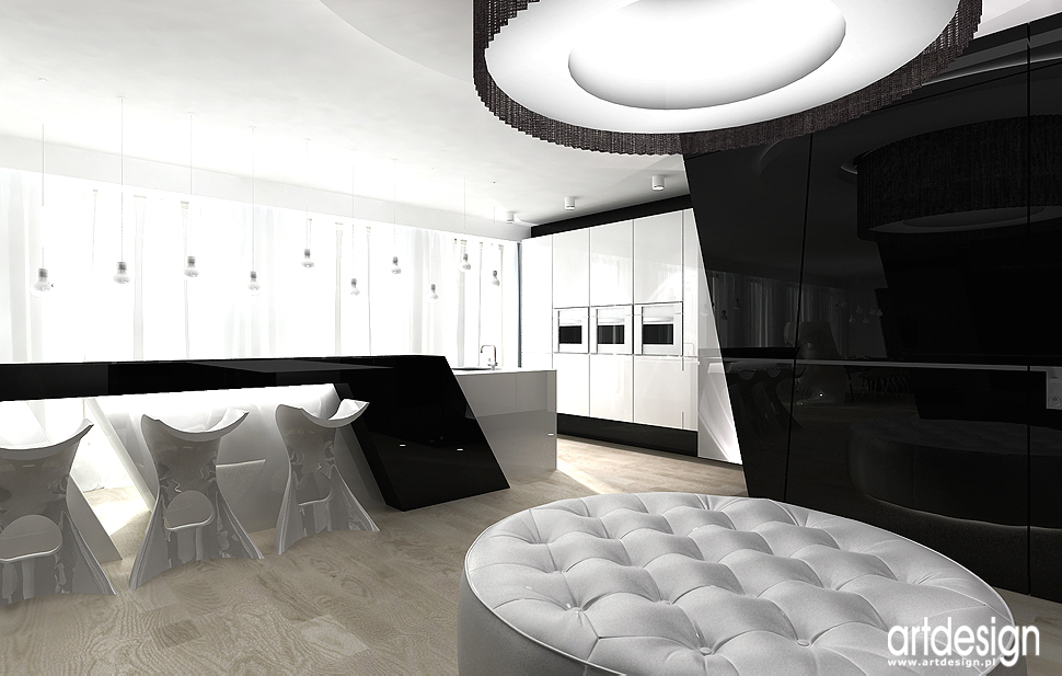 projekt wnętrza nowoczesnego apartamentu