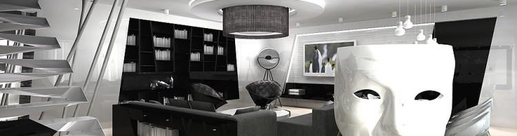 projekt wnętrz luksusowego apartamentu - salon