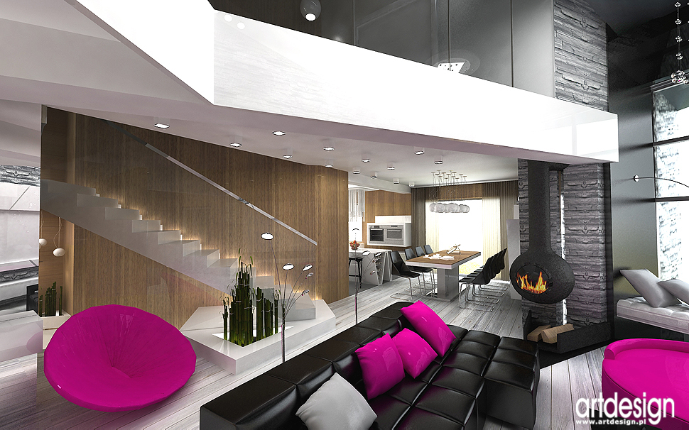 luksusowe wnętrza domu - salon