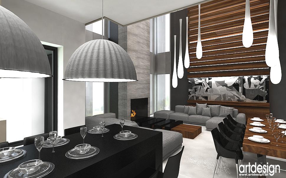 projekty wnętrz nowoczesnego domu - jadalnia