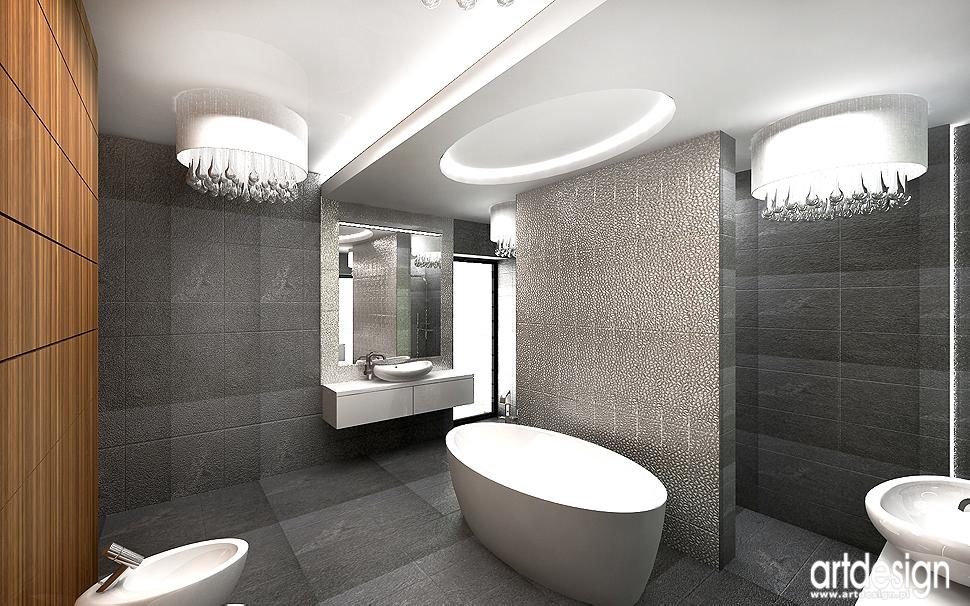 luksusowe wnętrze domu - salon kąpielowy