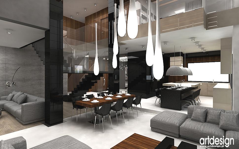 architektura wnętrza domu z kuchnią otwartą