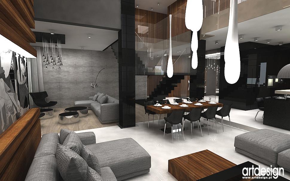 salon w luksusowym domu