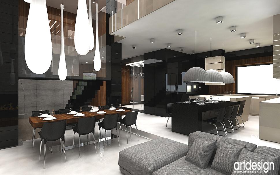 projekt kuchni z jadalnią - wnętrza współczesnych domów