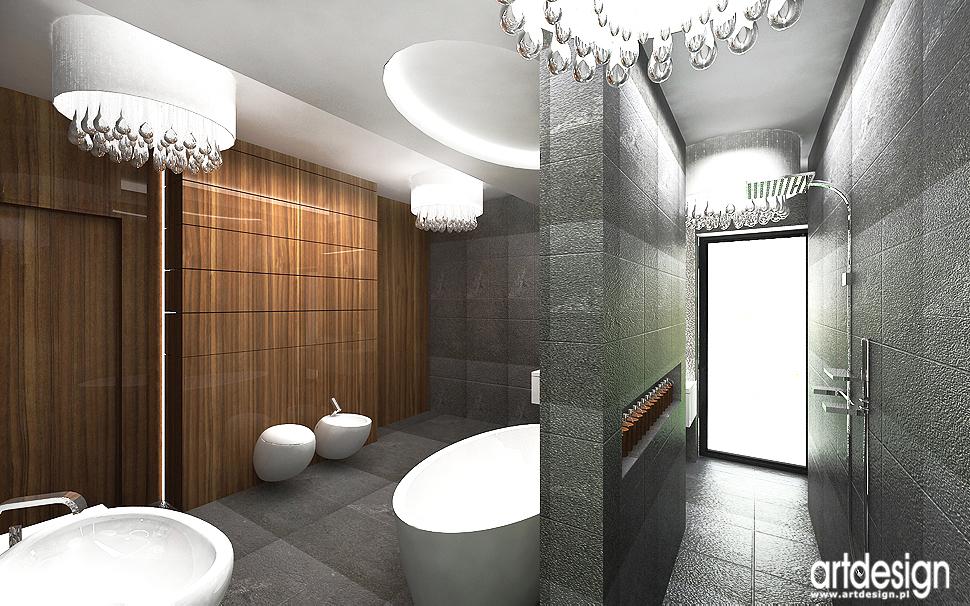 salon kąpielowy w nowoczesnym domu