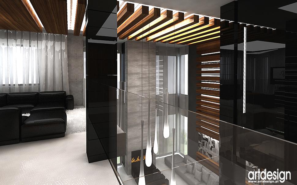 architektura wnętrza domu z antresolą