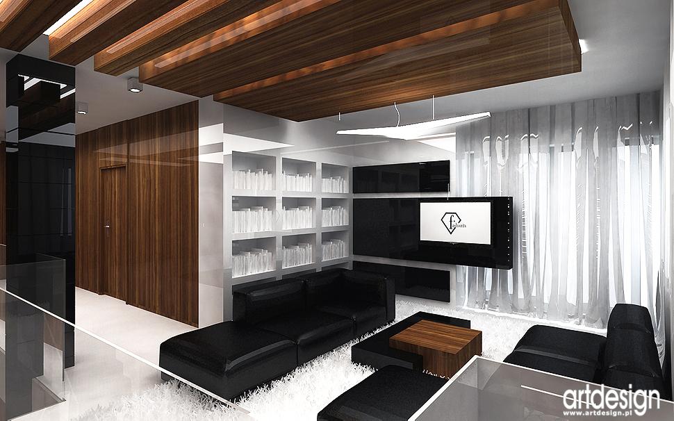 projektowanie wnętrz nowoczesnego domu - salon
