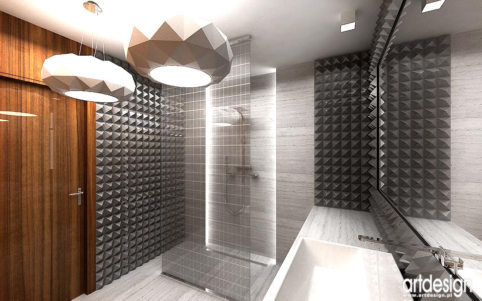 projektowanie wnętrza nowoczesnego domu - łazienka