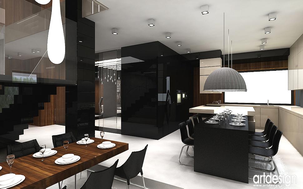 nowoczesna kuchnia z wyspą - projektowanie wnętrza