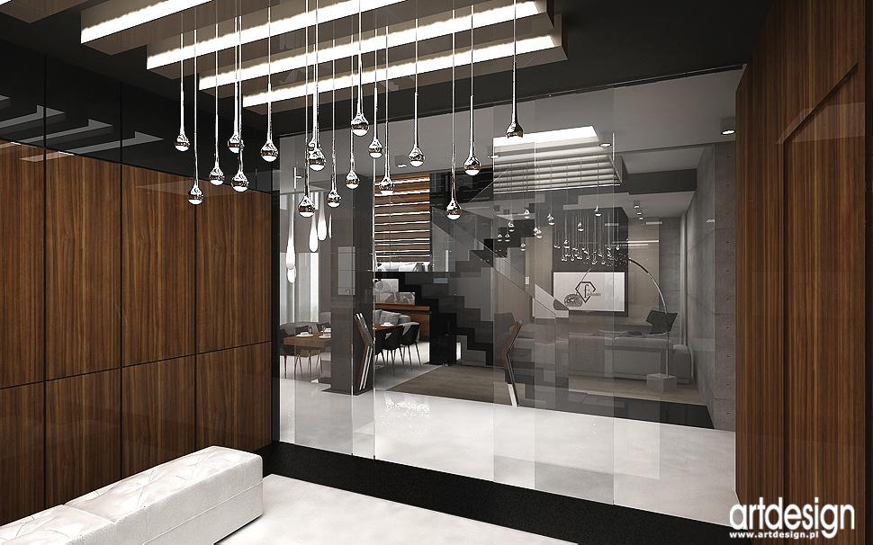 architekci wnętrz - hol w luksusowym domu
