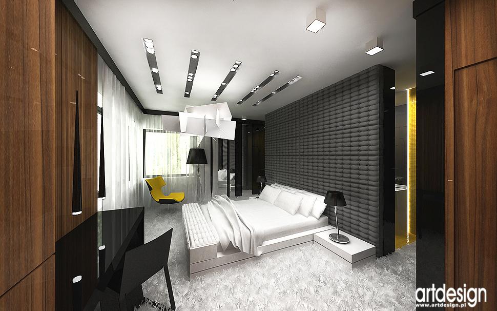 sypialnia w nowoczesnym domu - architektura wnętrz