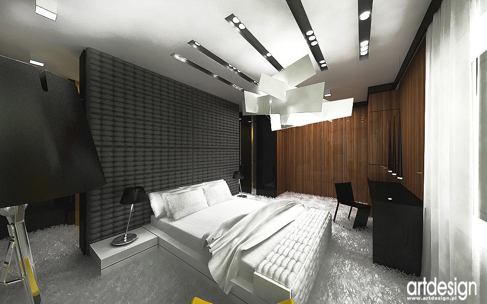 sypialnia - designerskie wnętrza domów - projekty