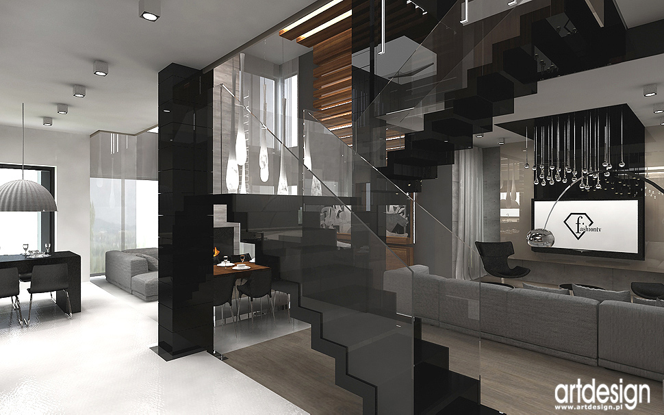 projektant wnętrza nowoczesnego domu - schody