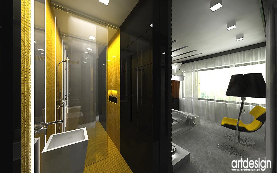 łazienka przy sypialni - designerskie wnętrza domów