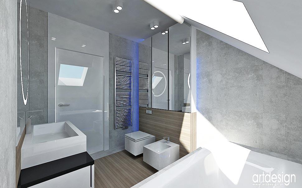Dom Lublin Wnętrza łazienki Sypialnia Projektowanie