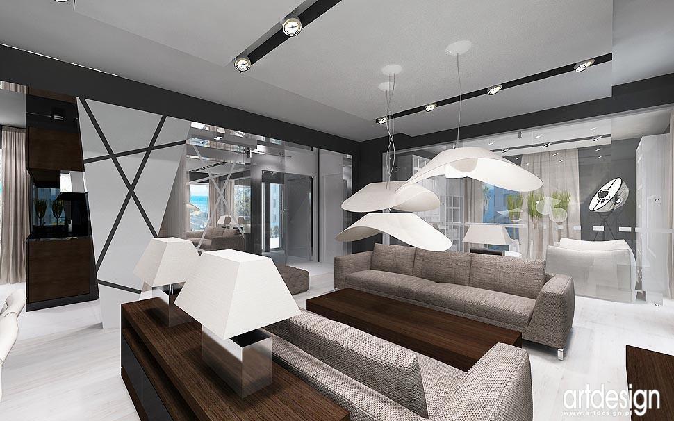 Dom Lublin – wnętrza – salon, jadalnia, kuchnia  Projektowanie wnętrz ARTDE   -> Aranżacja Kuchnia Jadalnia Salon