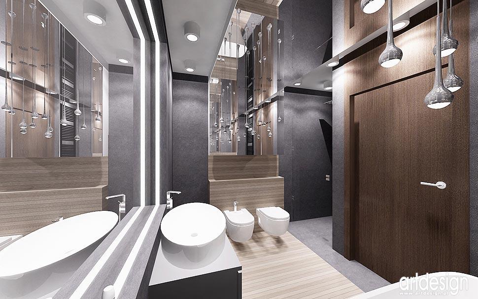 Nowoczesny Design Wnętrz Projekt Sypialni łazienki I Gabinetu