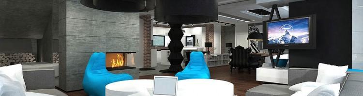 projektowanie wnetrza salony w stylu eklektycznym