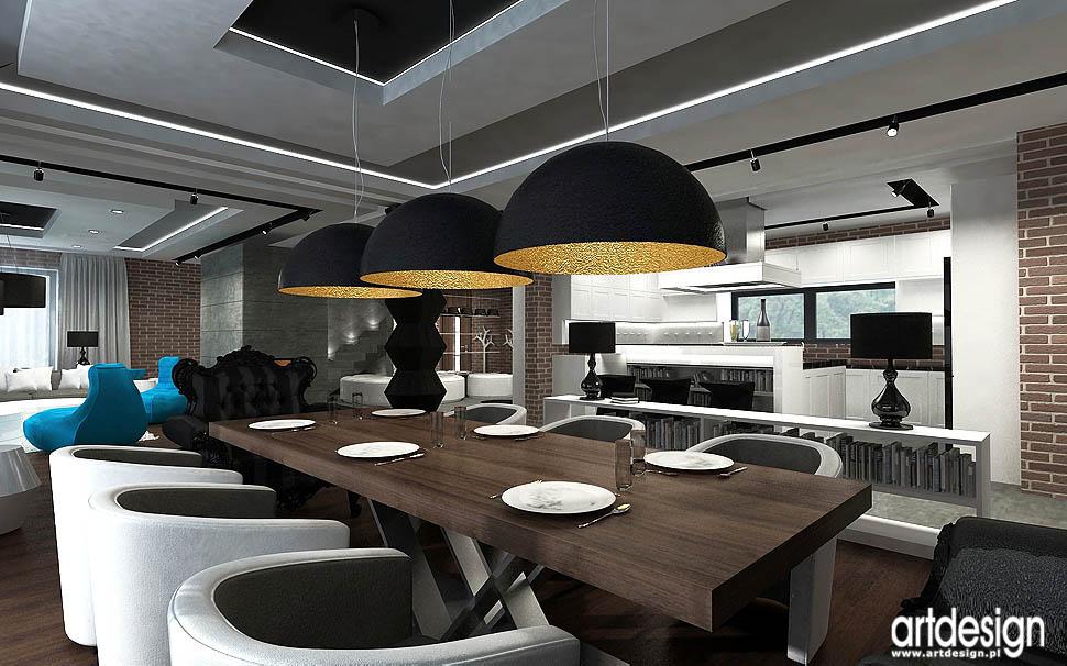 Projekt wn trza domu nowoczesny vintage projektowanie for W loft