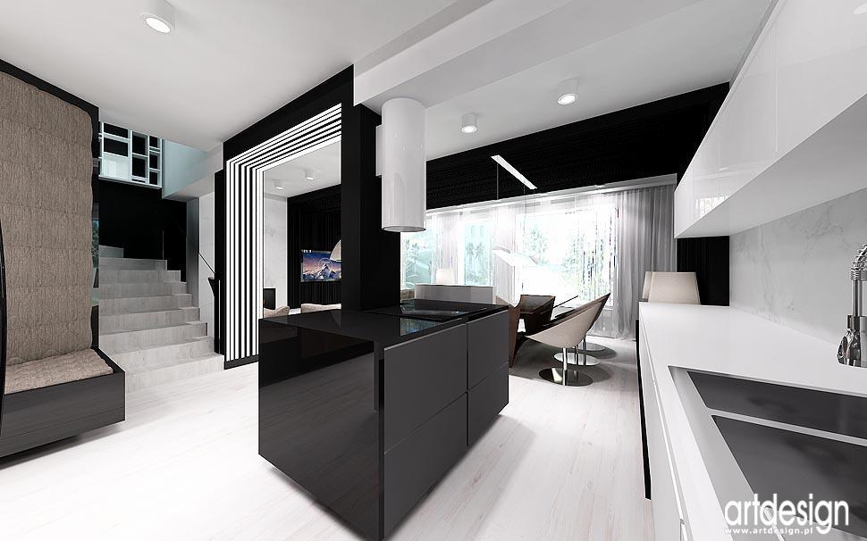Nowoczesny design wn trz aran acja salon kuchnia for Projekty kuchni z salonem