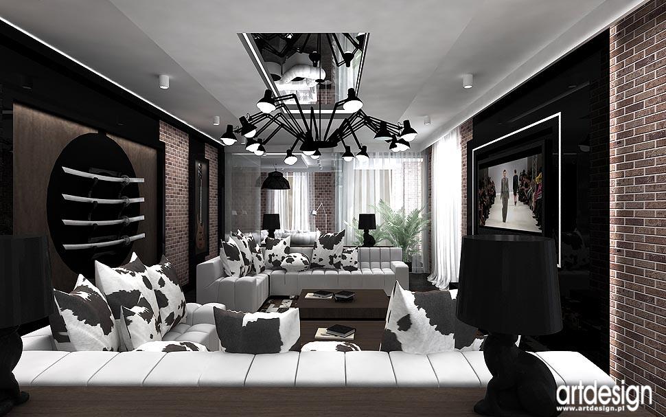 Apartament w wiedniu projekt wn trz salon jadalnia for Salon loft metz