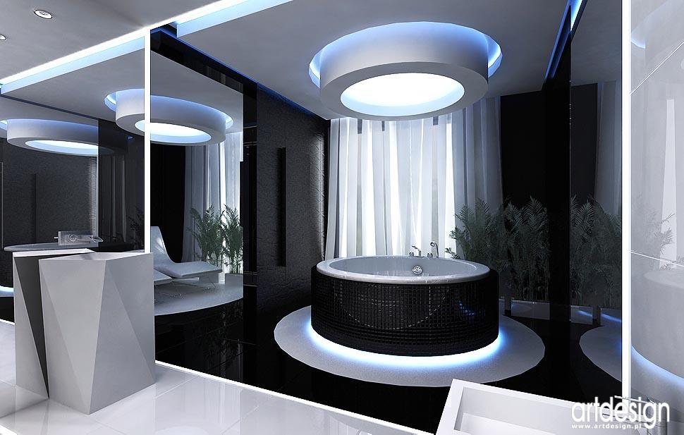 wnętrze luksusowego domu projekt sypialni i �azienki