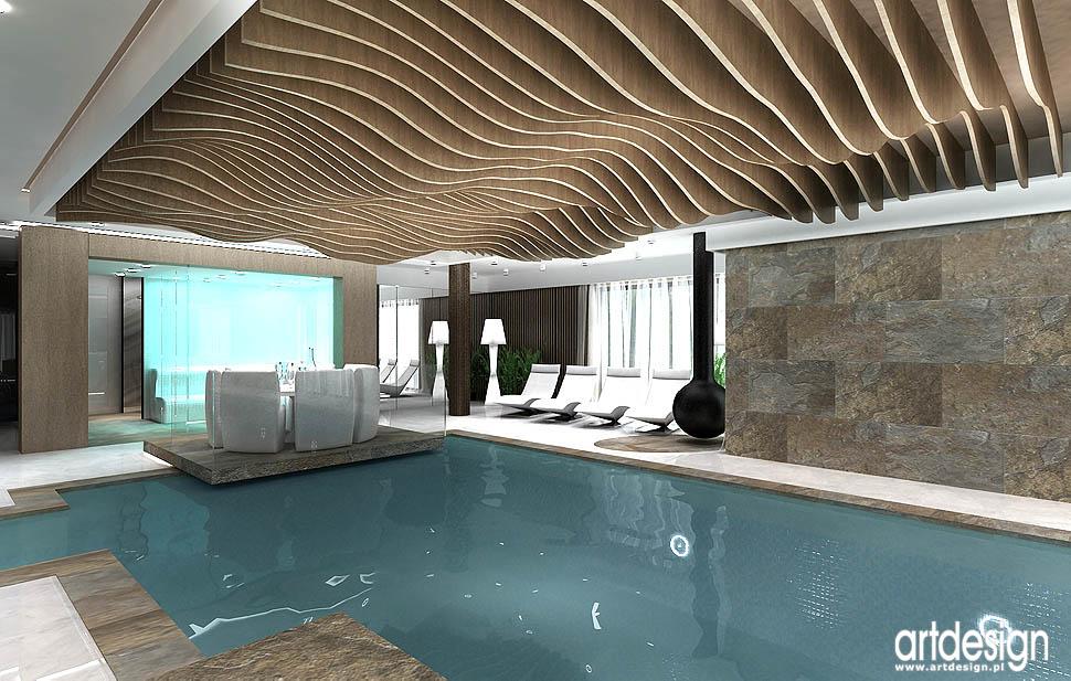 rezydencja katowice � projekt wnętrz basenu spa