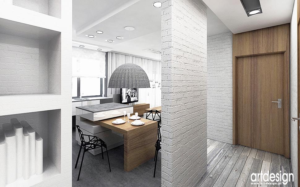 architektura wnetrz minimalizm biala cegla design