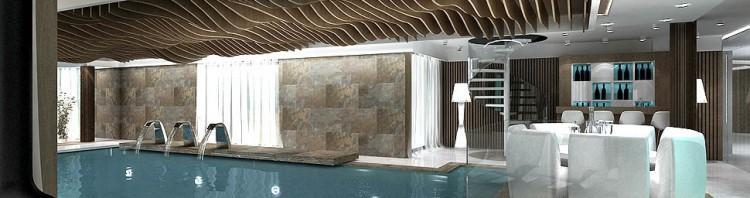 basen w domu spa jacuzzi hydromasaż aranżacje Katowice