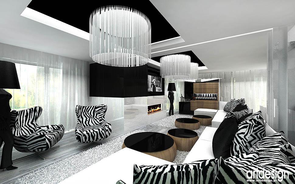 wnętrza domu w krakowie � aranżacja salon domowe spa